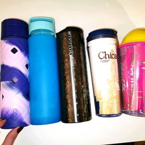 5 Lululemon and Starbucks items for water/coffee